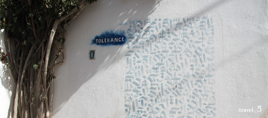 Djerba tolerance Graffiti security Tunisia