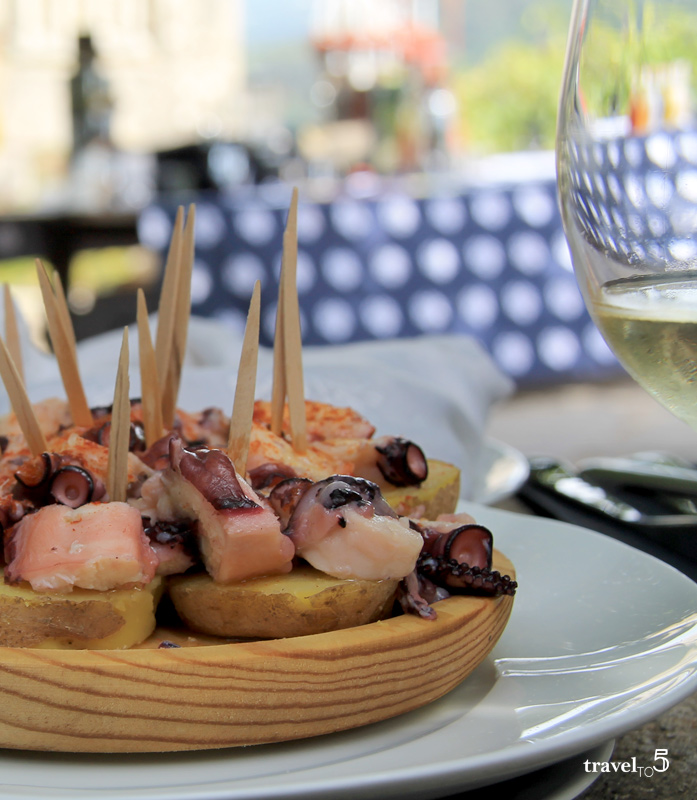 Food in Galicia a feira style octopus with potatoes