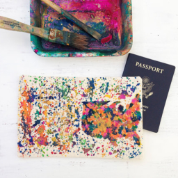 Handpainted passport cover ooak etsy