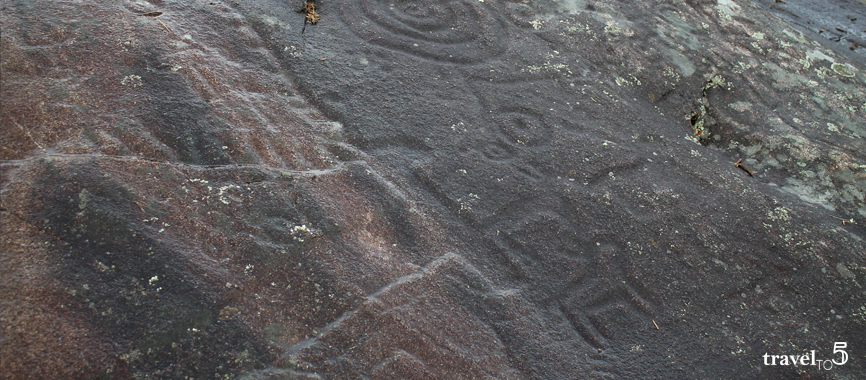 Rock art sites galicia