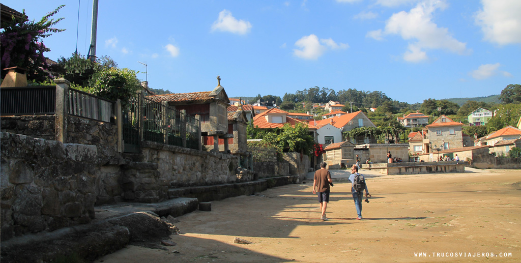 Combarro typical granaries horreos by the sea Rias Baixas