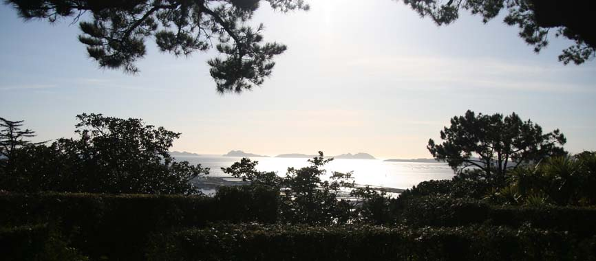 photo of Cies Islands from O Castro Mountain
