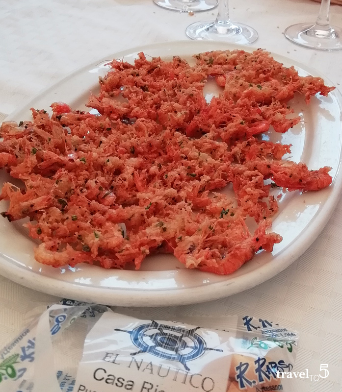 tortillitas de camarones, shrimp fritters from Cadiz